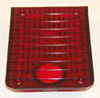 Jeepster commando red tail light lens